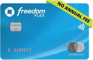 CHASE FREEDOM FLEX (Service Mark) CREDIT CARD. NO ANNUAL FEE. Contactless icon
