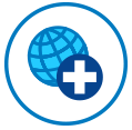 travel and emergency assistance services icon