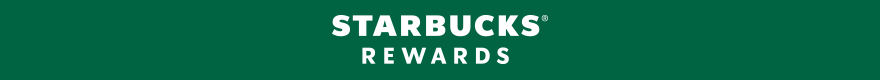 Starbucks logo. STARBUCKS (Registered Trademark) REWARDS VISA (Registered Trademark) CARD