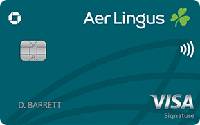 Clickable card art links to Aer Lingus Visa Signature(Registered Trademark) card product page