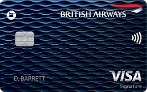 Clickable card art links to British Airways Visa Signature(Registered Trademark) card product page