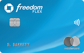 Clickable card art links to Chase Freedom Flex (Service Mark) credit card product page