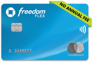 Chase Freedom Flex (Service Mark) credit card. NO ANNUAL FEE (dagger).