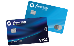 Chase Freedom Flex (Service Mark) credit card. Chase Freedom Unlimited (Registered Trademark) credit card