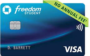 Chase Freedom(Registered Trademark) Student credit card. NO ANNUAL FEE (dagger).