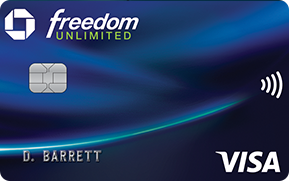 Clickable card art links to Chase Freedom Unlimited (Registered Trademark) credit card product page
