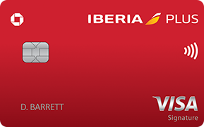 Clickable card art links to Iberia Visa Signature(Registered Trademark) card product page