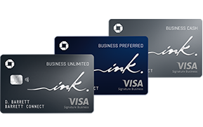 Ink(Registered Trademark) Business Unlimited Credit Card. Ink(Registered Trademark) Business Preferred Credit Card. Ink(Registered Trademark) Business Cash Credit Card.