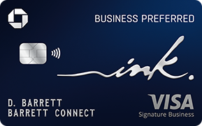 Clickable card art links to Ink Business Preferred(Service Mark) credit card product page