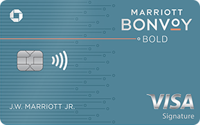Clickable card art links to Marriott Bonvoy Bold(Trademark) credit card product page