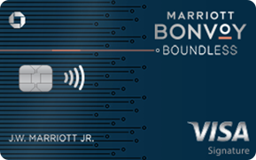 Clickable card art links to Marriott Bonvoy Boundless(Trademark) credit card product page
