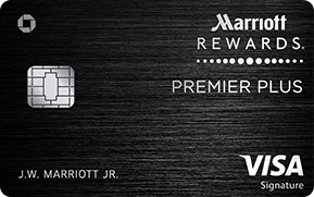 Clickable card art links to Marriott Rewards(Registered Trademark) Premier Plus credit card product page