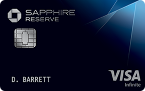 Clickable card art links to Chase Sapphire Reserve(Service Mark) credit card product page