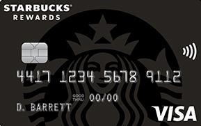 Clickable card art links to Starbucks Rewards (Trademark) Visa (Registered Trademark) Card product page