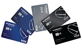 Clickable card art links to Southwest Rapid Rewards(Registered Trademark) Family of Cards product page
