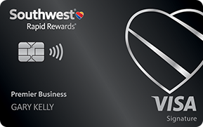 Clickable card art links to Southwest Rapid Rewards(Registered Trademark) Premier Business Credit Card product page