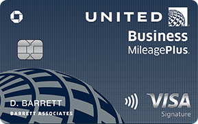 Clickable card art links to United MileagePlus(Registered Trademark) Explorer Business Card product page