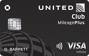 Clickable card art links to United Club(Service Mark) Infinite Card product page