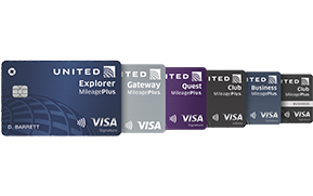 United (Service Mark) Explorer Card, United Gateway (Service Mark) Card, United Quest (Service Mark) Card, United Club (Service Mark) Infinite Card, United (Service Mark) Business Card, United Club (Service Mark) Business Card
