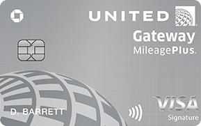 Clickable card art links to United Gateway (Service Mark) Credit Card product page
