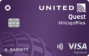 Clickable card art links to United Quest(Service Mark) Card product page