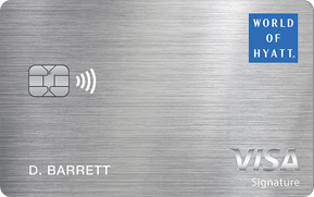 Clickable card art links to World of Hyatt Credit Card product page