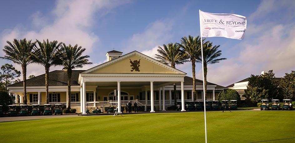 Lake Nona Golf & Country Club with Above & Beyond flag
