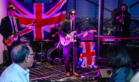 Band The British Are Coming performing on stage at Reunion Tower
