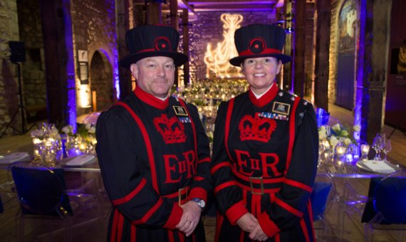 Two Yeomen Warders of Her Majesty's Fortress the Tower of London