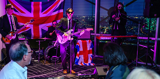 Band The British Are Coming performing on stage