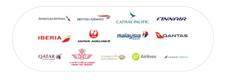 Collection of the oneworld partner airlines